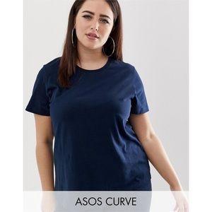 ASOS Curve Navy T-Shirt